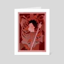 (Seijou floral prints set) Pot Marigold. - Art Card by Apple Yogurt