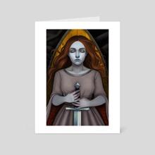Silence - Art Card by Liz McLelland
