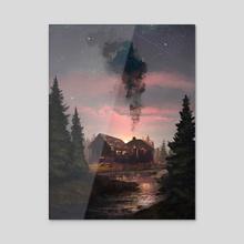 ForgottenHouse - Acrylic by Anton Medvedkov