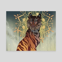 Halo Tiger - Canvas by Aspen Eyes
