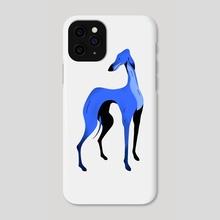 Greyhound pose 8 - Phone Case by Joanna Dudoń