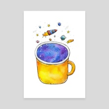 Space Cup - Canvas by Tania S