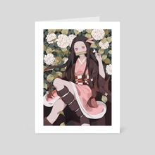 nezuko - Art Card by Yueko