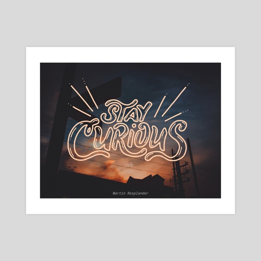 stay curious by the false gallery