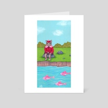 Dreaming of Fish Tacos - Art Card by Ainsley Sturko