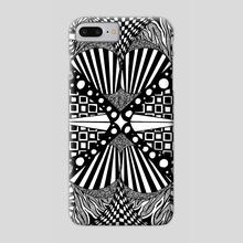 15. B&W-A4. Geo - Phone Case by Darling Wicks