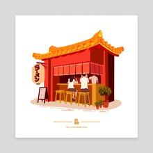 The Little Ramen Shop - Canvas by Jiun Chin