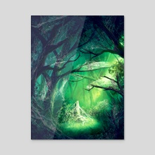 WebWood Canopy  - Mystic Vale - Acrylic by Andrew Gaia
