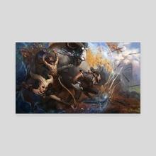 Noble Defense - Canvas by Marius Bota