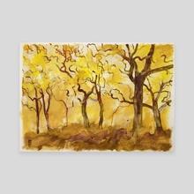 Il bosco dorato - Canvas by Alessandro Andreuccetti