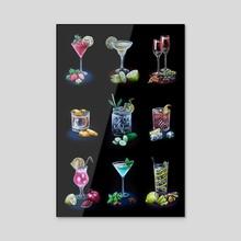 Classic Cocktails Season #3 - Acrylic by Anna Suslina