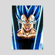 Majin Vegeta Blue - Canvas by CHYTWO ART