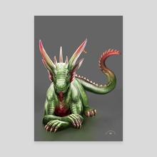 Mr. Dragon - Canvas by Anna Bea Rosa