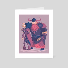 Valka and Stoick - Art Card by Katie Elle