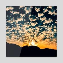 Cloudy Sunrise (MKW-I.18) - Acrylic by Kat Wicks