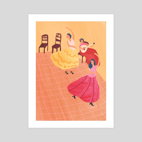 Spanish dancers by Agnes Loonstra
