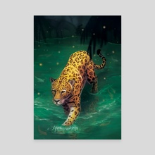 Jaguar Walking - Canvas by Carissa Genovese