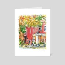 Bleecker Street, Manhattan NY - Art Card by Helen Denisevich