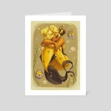 Yellow Mermaid - Art Card by Savannah Alexandra