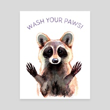 Wash Your Paws - Canvas by Megan Kott