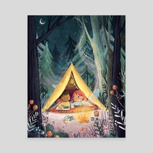 Camping Trip - Canvas by Lucy Fleming