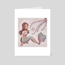A pastel mermaid - Art Card by Chooosemi