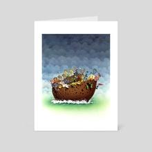 Woodpecker - Art Card by Ramon Gonzalez Teja