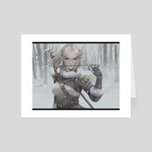 Zelda - Snowquill - Art Card by Kuma NZ