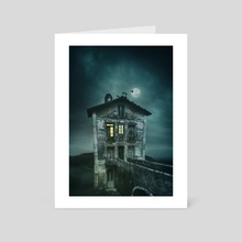 Pigeon Keeper's House - Art Card by Carlos Caetano