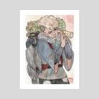 Tanuki, the Shapeshifter - Page of Wands - Art Print by A Miyako M