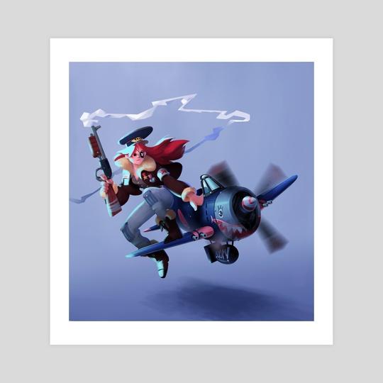 Badass lady aviator ! by Charles Lemor
