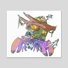 Techno Crab - Acrylic by Alain Gruetter