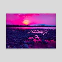 Pink Horizon  - Canvas by Brittany Kurtinecz