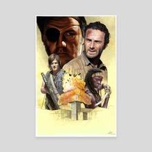 The Walking Dead Poster - Canvas by Mattia De Iulis