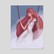 FFXIV: Au'ra - Canvas by Leentje Vandenhende