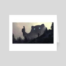 yo bro is it safe down there in the woods? yeah man it's cool - Art Card by Tomislav Jagnjić
