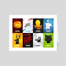 Game of Thrones Sigils - Art Card by Renaud Forestié