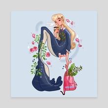 School Mermaid - Canvas by Hyemin Yoo