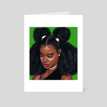 Curly Sue - Art Card by Rosmond  Gray Illustrations