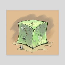 Gelatinous Cube - Canvas by Sady M. Izé