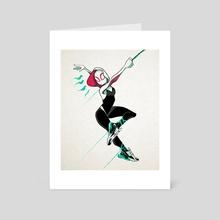Gwen  - Art Card by Ruth Burotte