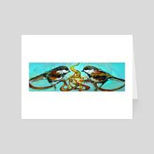 Chickadees - Art Card by birds