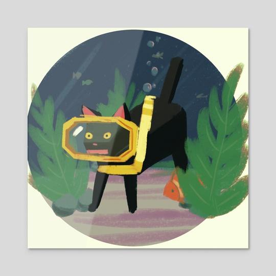 cat by Sky Kusunoki