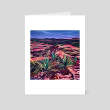 Desert Scene, Caprock Canyon - Art Card by AnnMarie Young