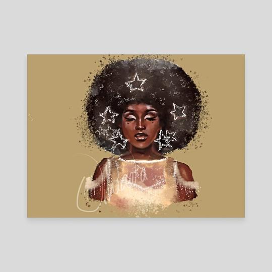 DTIYS stars in her hair girl by Uheada  Agabi
