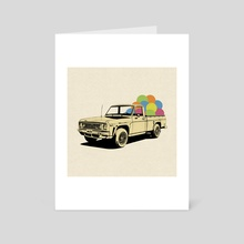 Pickup Truck - Art Card by LennyCollageArt