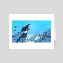 Moon Base 01 - Art Card by Peder Nygaard