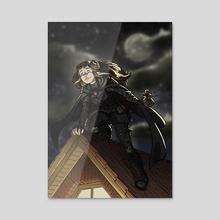 Elf Rogue - Acrylic by Alexandra Presser