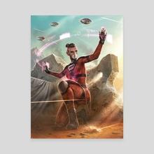 """Android: Netrunner - """"Reina Roja ALT"""" - Canvas by Matt  Zeilinger"""