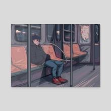 Subway - Acrylic by Amalas Rosa